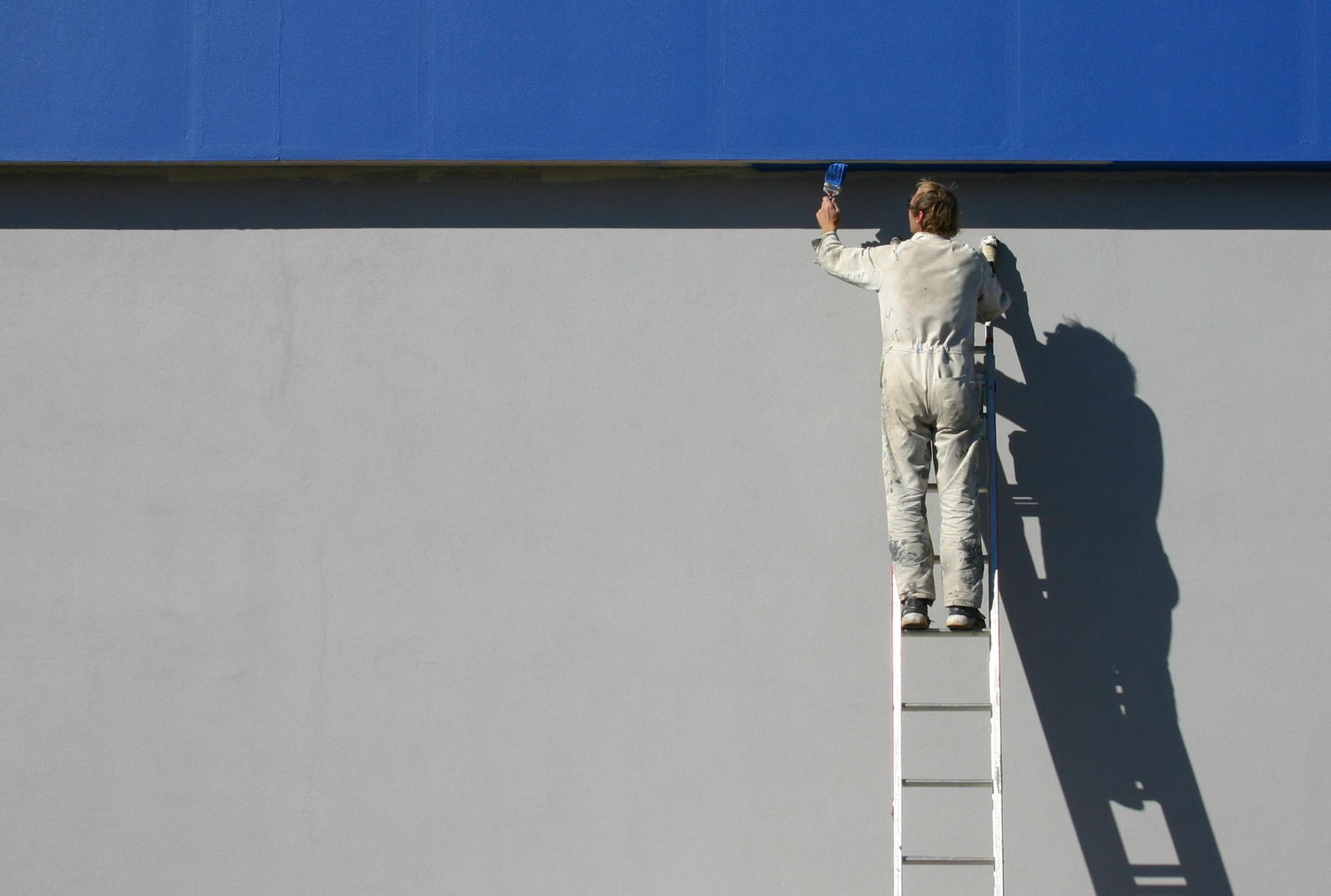 Ouvrier batiment peinture